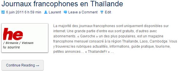 JournauxFrancophonesEnThailande