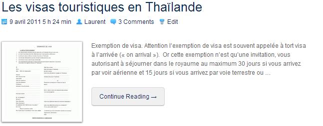 LesVisasTouristiquesEnThailande
