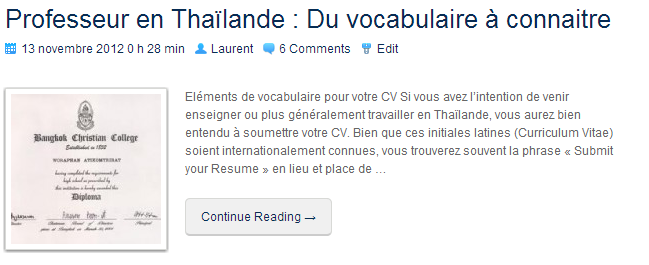 VocabulaireProfesseurThaïlande