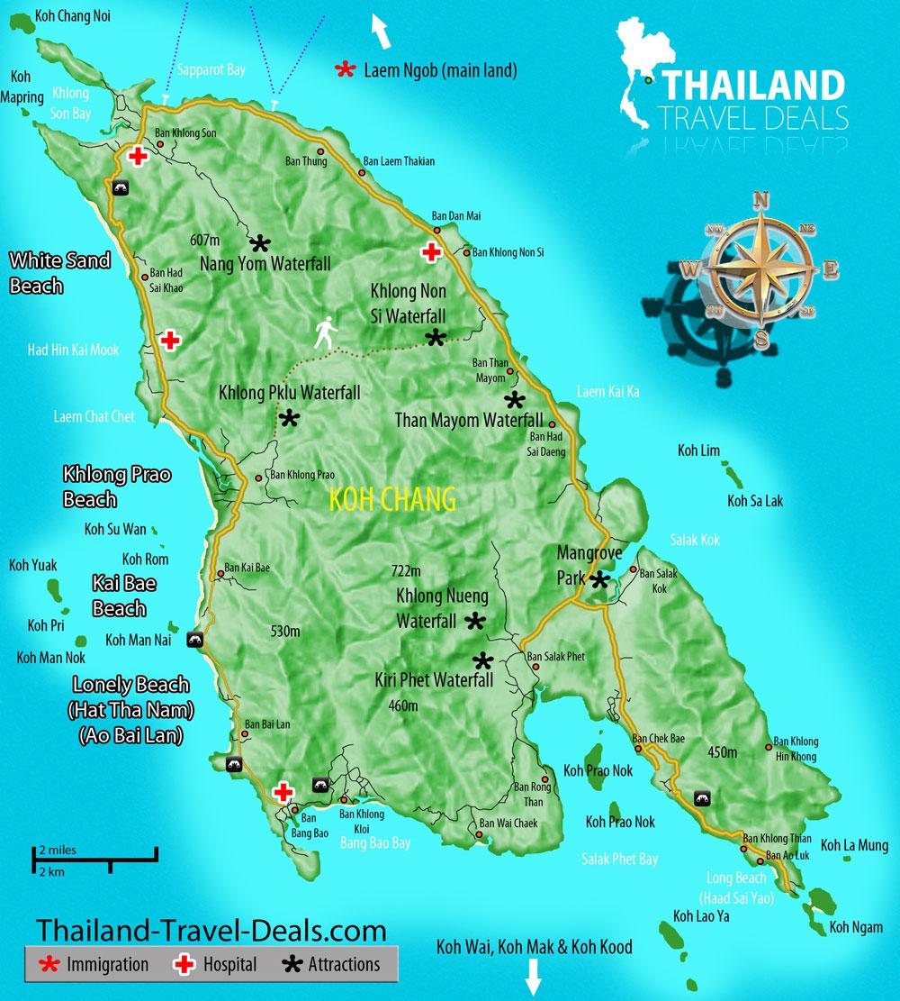 Carte Randonnee Thailande.Koh Chang 2 Randonner Dans La Jungle Expatriation En