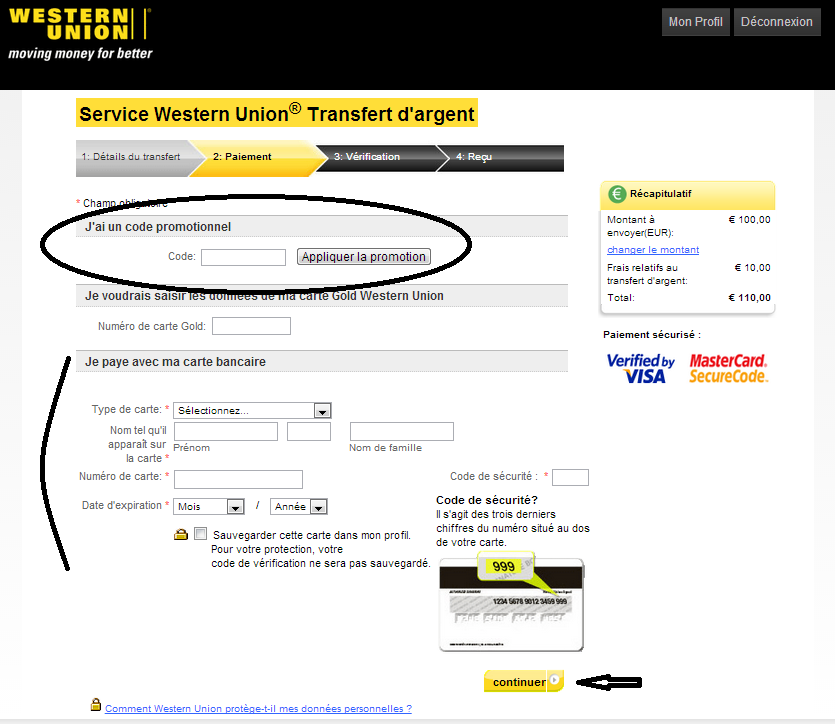 comment faire western union