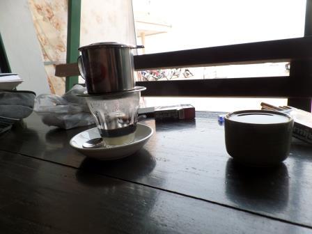 Café vietnamien au marche de Tha Sadet à Nong Khai