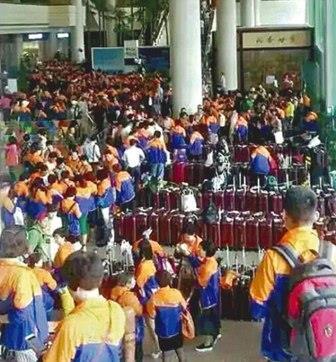 Touristes chinois en Thaïlande