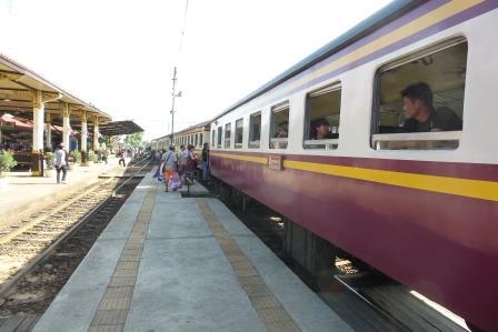 Train pour Ayutthaya