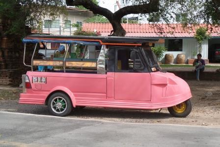 Tuk tuk à Ayutthaya