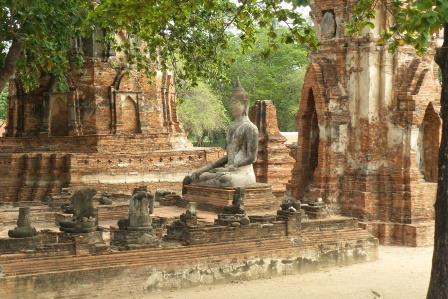 Le Wat Maha That à Ayutthaya